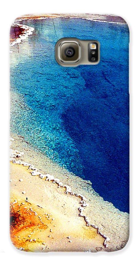 Geyser Galaxy S6 Case featuring the photograph Geyser Basin by Nancy Mueller