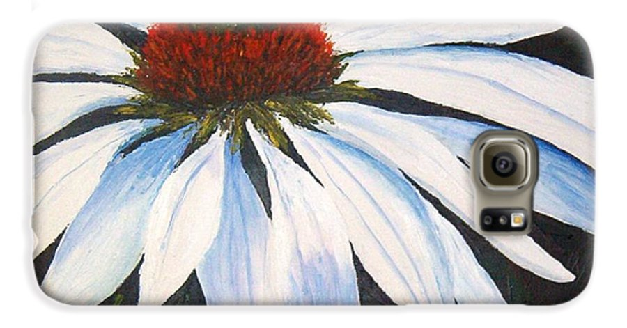 Cone Flowers Galaxy S6 Case featuring the painting Ghost Cone by Tami Booher