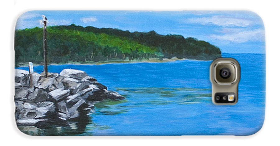 Gills Rock Galaxy S6 Case featuring the painting Gills Rock by Peggy King