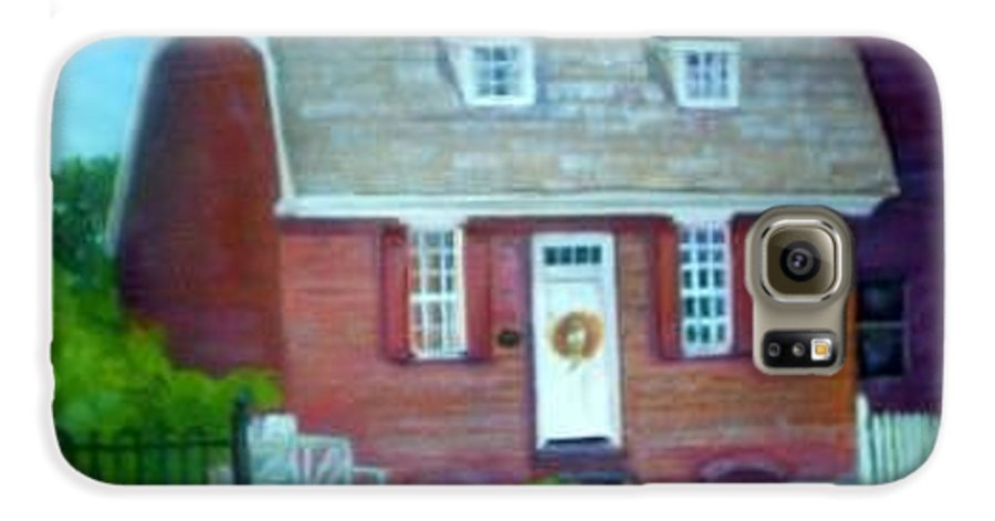 Revell House Galaxy S6 Case featuring the painting Gingerbread House by Sheila Mashaw