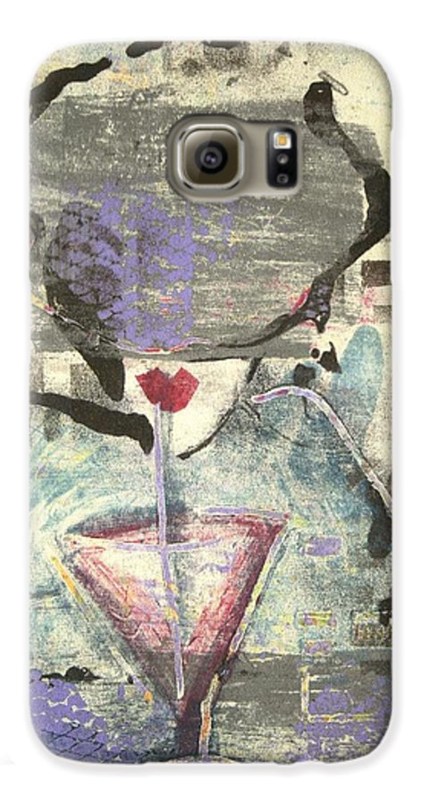 Cafe Galaxy S6 Case featuring the painting Girl With Drink by Maryn Crawford