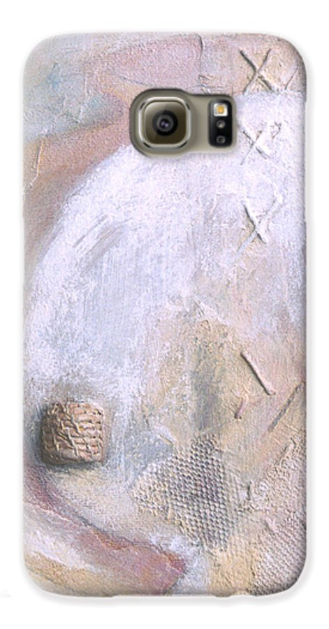 Collage Galaxy S6 Case featuring the painting Give And Receive by Kerryn Madsen-Pietsch