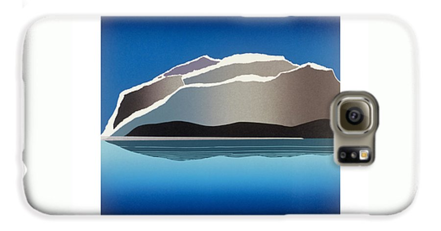 Landscape Galaxy S6 Case featuring the mixed media Glaciers by Jarle Rosseland