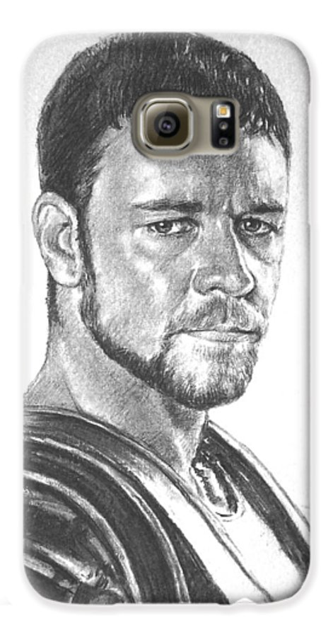 Portraits Galaxy S6 Case featuring the drawing Gladiator by Iliyan Bozhanov