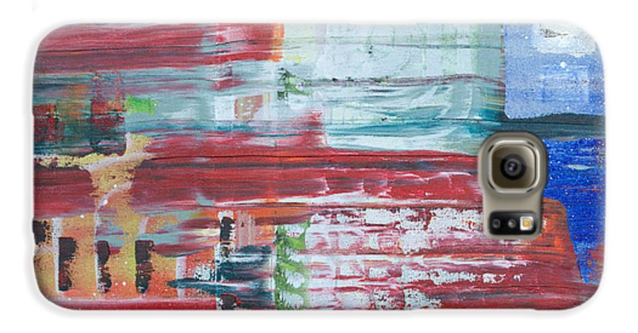 Impressionism Galaxy S6 Case featuring the painting Glass Blocks by J R Seymour