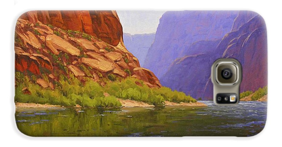 Cody Delong Galaxy S6 Case featuring the painting Glen Canyon Morning by Cody DeLong