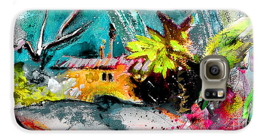 Pastel Painting Galaxy S6 Case featuring the painting Glory Of Nature by Miki De Goodaboom