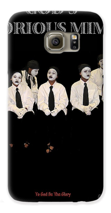 Young Mimes Waiting To Perform For God Galaxy S6 Case featuring the photograph God by Reggie Duffie