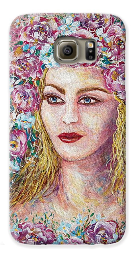Goddess Of Good Fortune Galaxy S6 Case featuring the painting Goddess Of Good Fortune by Natalie Holland