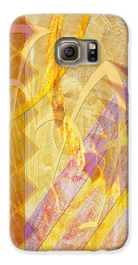 Gold Fusion Galaxy S6 Case featuring the digital art Gold Fusion by John Beck