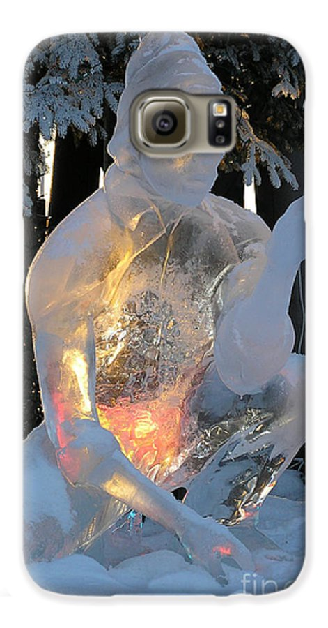 Ice Sculpture Galaxy S6 Case featuring the photograph Gold Miner by Louise Magno