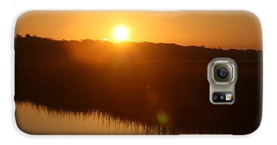 Glow Galaxy S6 Case featuring the photograph Gold Morning by Nadine Rippelmeyer