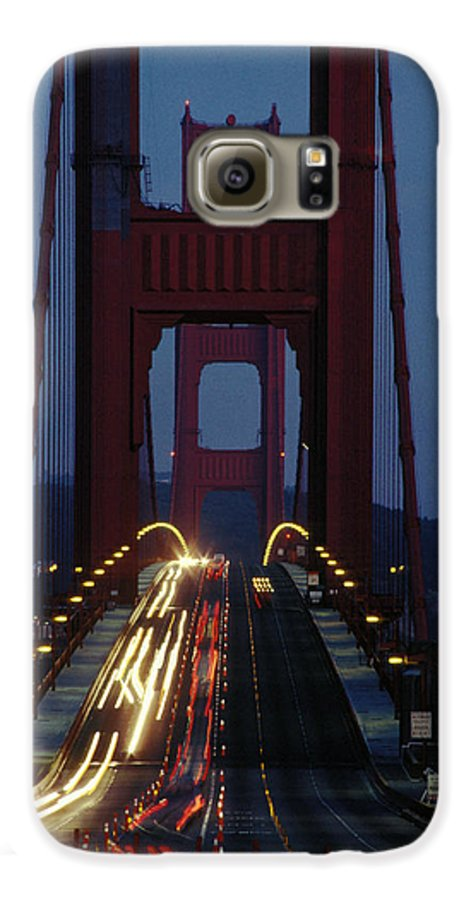 Evening Galaxy S6 Case featuring the photograph Golden Gate Bridge by Carl Purcell