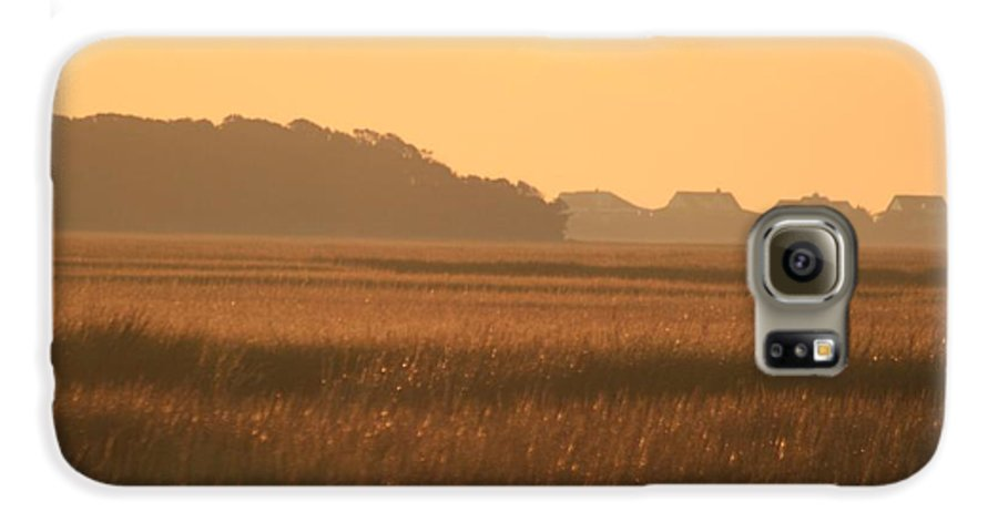 Marsh Galaxy S6 Case featuring the photograph Golden Marshes by Nadine Rippelmeyer