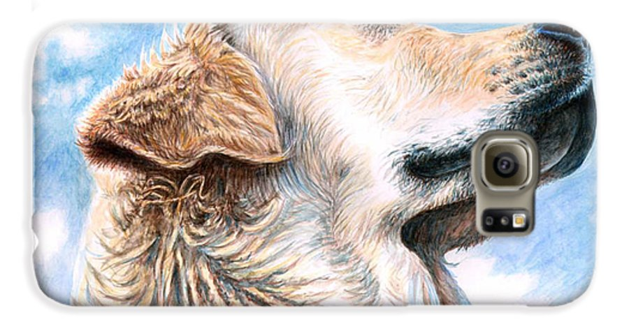 Dog Galaxy S6 Case featuring the painting Golden Retriever by Nicole Zeug