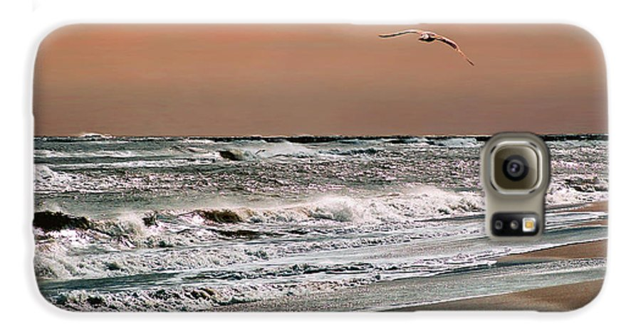 Seascape Galaxy S6 Case featuring the photograph Golden Shore by Steve Karol