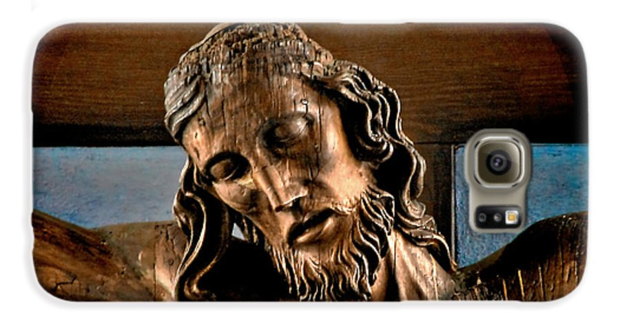 Easter Galaxy S6 Case featuring the photograph Good Friday Jesus On The Cross by Christine Till