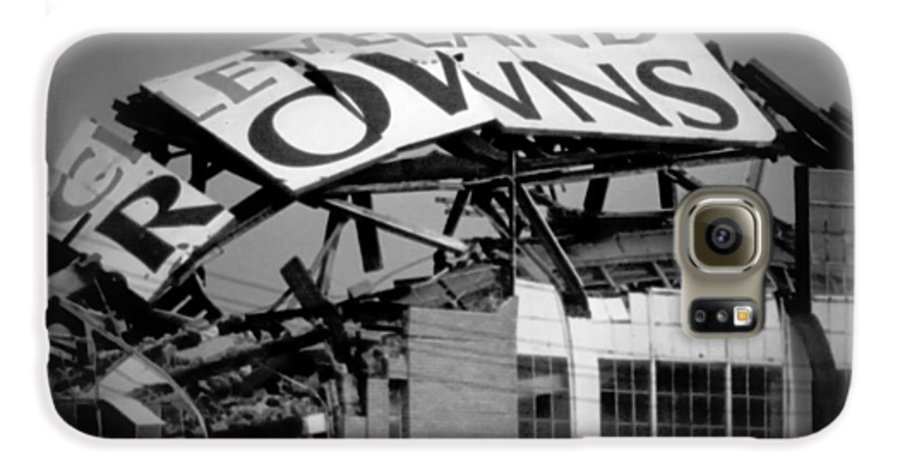 Cleveland Galaxy S6 Case featuring the photograph Goodbye Cleveland Stadium by Kenneth Krolikowski