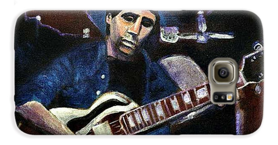 Shining Guitar Galaxy S6 Case featuring the painting Graceland Tribute To Paul Simon by Seth Weaver