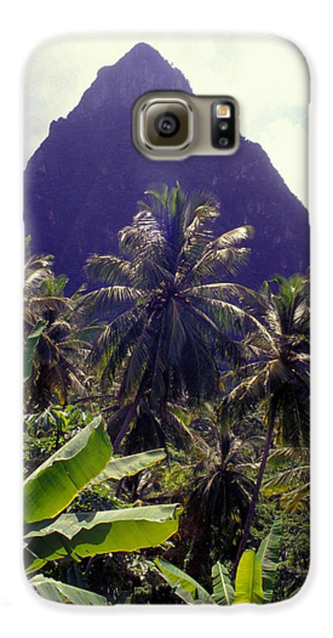 Caribbean Galaxy S6 Case featuring the photograph Grand Piton by Carl Purcell