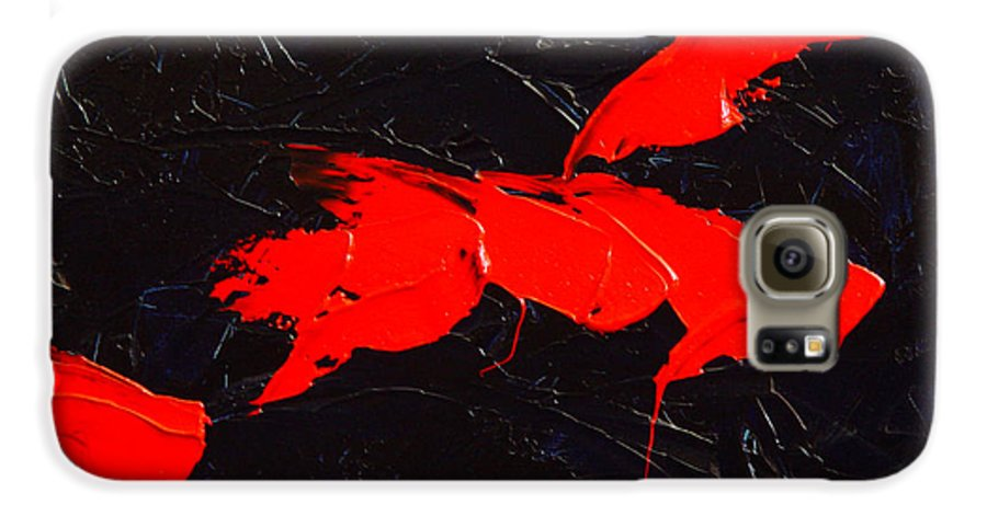 Abstract Galaxy S6 Case featuring the painting Grandma I by Dean Triolo
