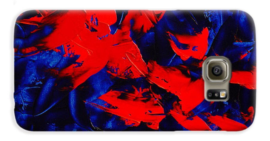 Abstract Galaxy S6 Case featuring the painting Grandma II by Dean Triolo