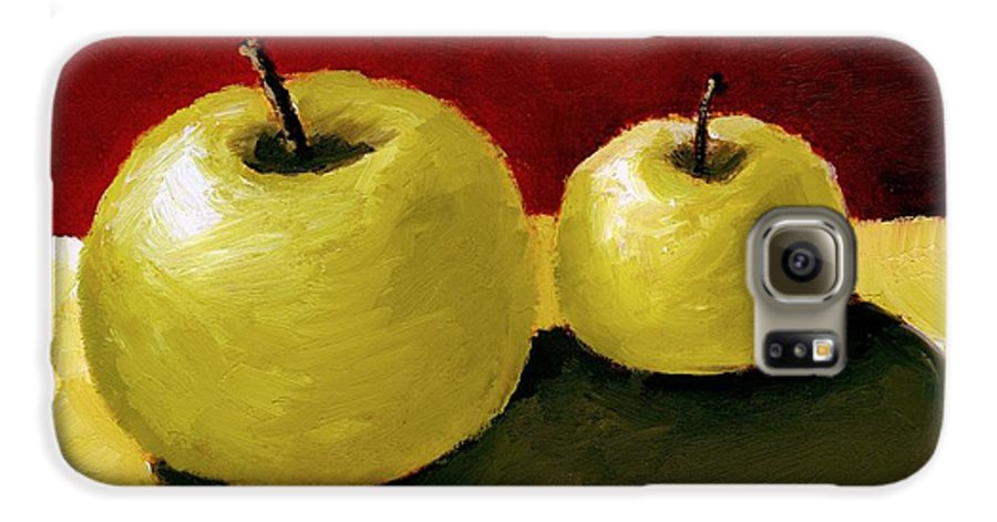 Apple Galaxy S6 Case featuring the painting Granny Smith Apples by Michelle Calkins