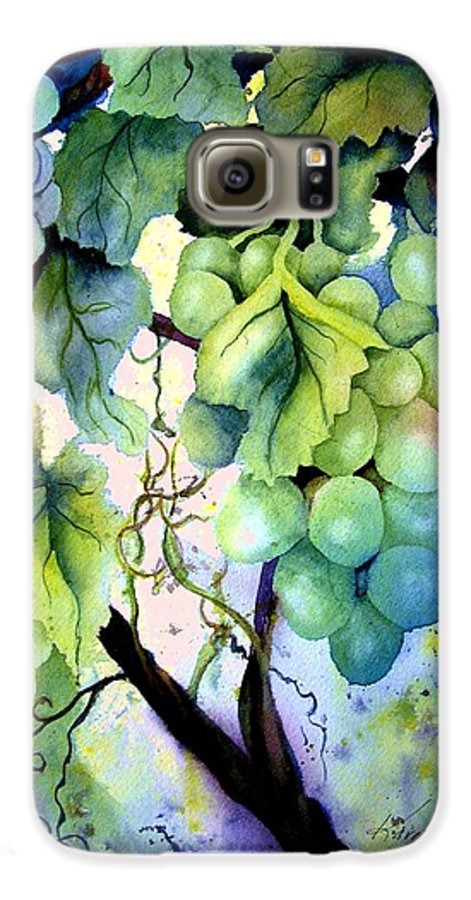 Grapes Galaxy S6 Case featuring the painting Grapes II by Karen Stark