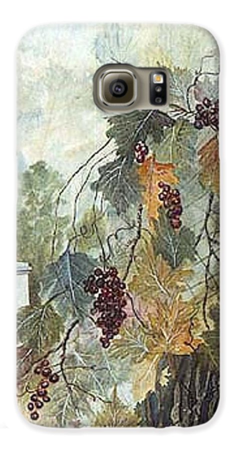 Fruit Galaxy S6 Case featuring the painting Grapevine Topiary by Ben Kiger