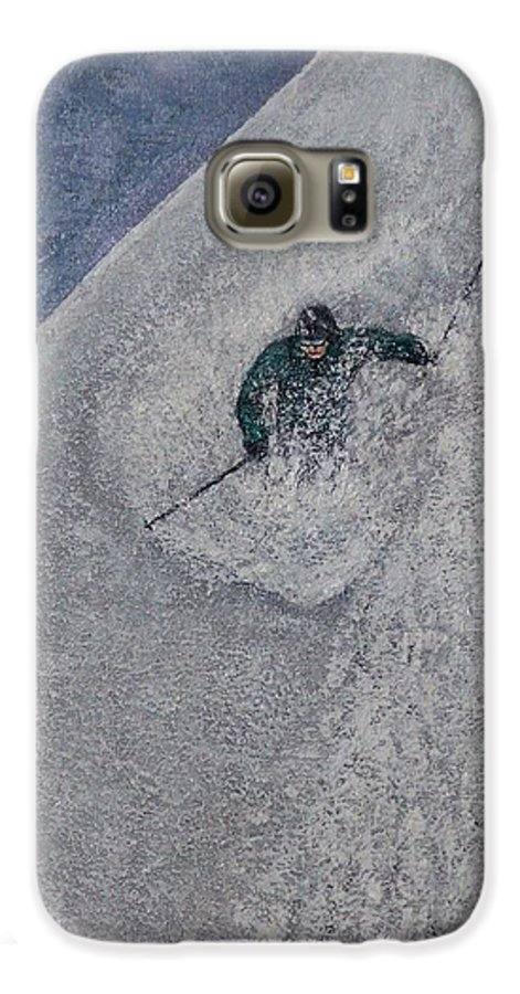 Ski Galaxy S6 Case featuring the painting Gravity by Michael Cuozzo