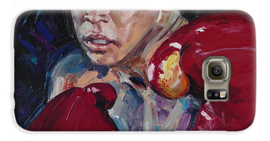 Figurative Galaxy S6 Case featuring the painting Great Ali by Sergey Ignatenko