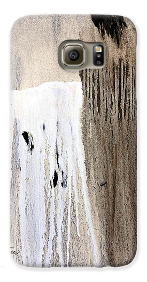 Native American Galaxy S6 Case featuring the painting Great Spirit by Patrick Trotter
