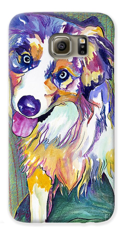 Pat Saunders-white Galaxy S6 Case featuring the painting Green Couch  by Pat Saunders-White