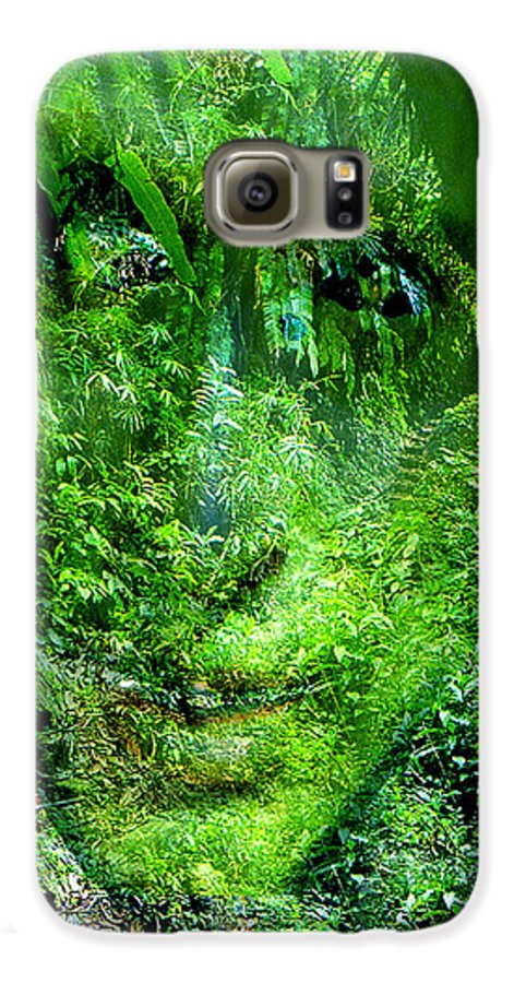 Nature Galaxy S6 Case featuring the digital art Green Man by Seth Weaver