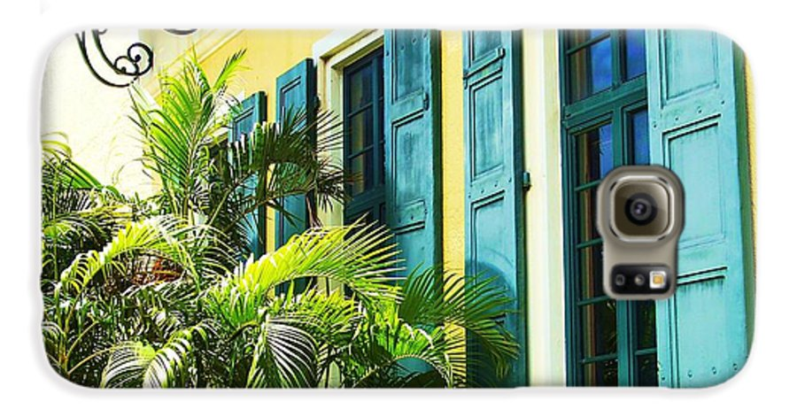 Architecture Galaxy S6 Case featuring the photograph Green Shutters by Debbi Granruth
