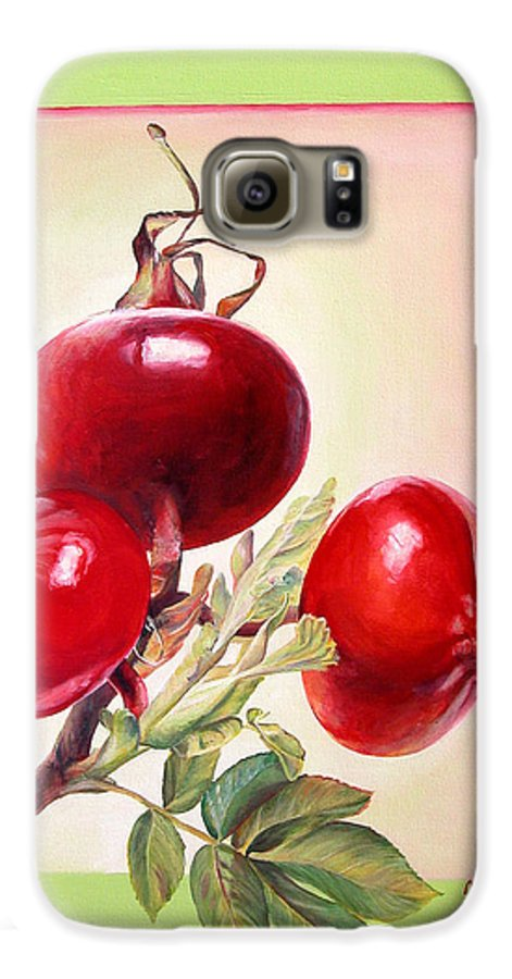 Still Life Galaxy S6 Case featuring the painting Grenadine by Muriel Dolemieux