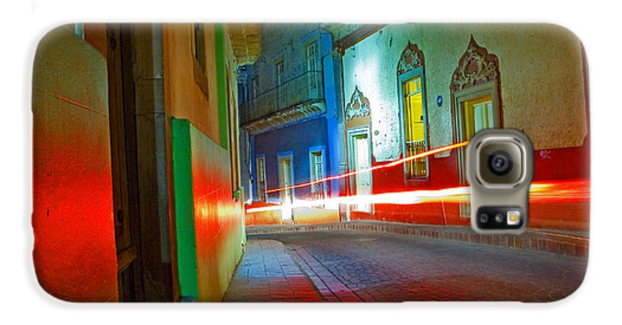 Shadow Galaxy S6 Case featuring the photograph Guanajuato Night by Skip Hunt