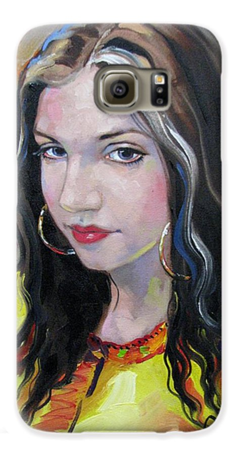 Gypsy Galaxy S6 Case featuring the painting Gypsy Girl by Jerrold Carton