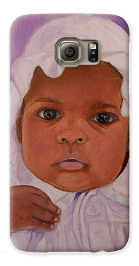 Haiti Galaxy S6 Case featuring the painting Haitian Baby Orphan by Quwatha Valentine