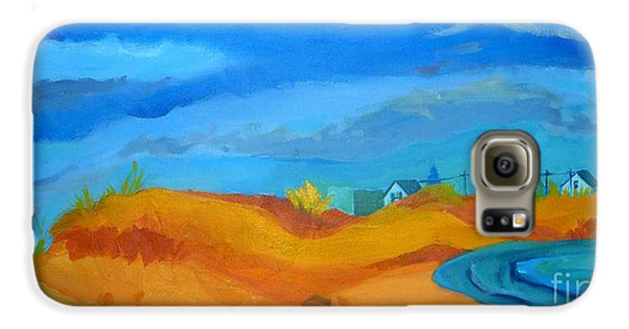Ocean Galaxy S6 Case featuring the painting Hampton Dunes by Debra Bretton Robinson