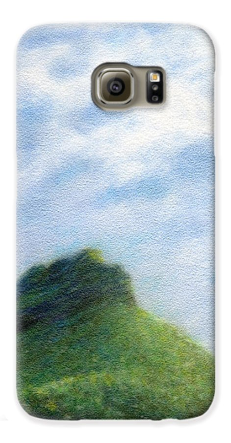 Rainbow Colors Pastel Galaxy S6 Case featuring the painting Hanakapia Beach View by Kenneth Grzesik