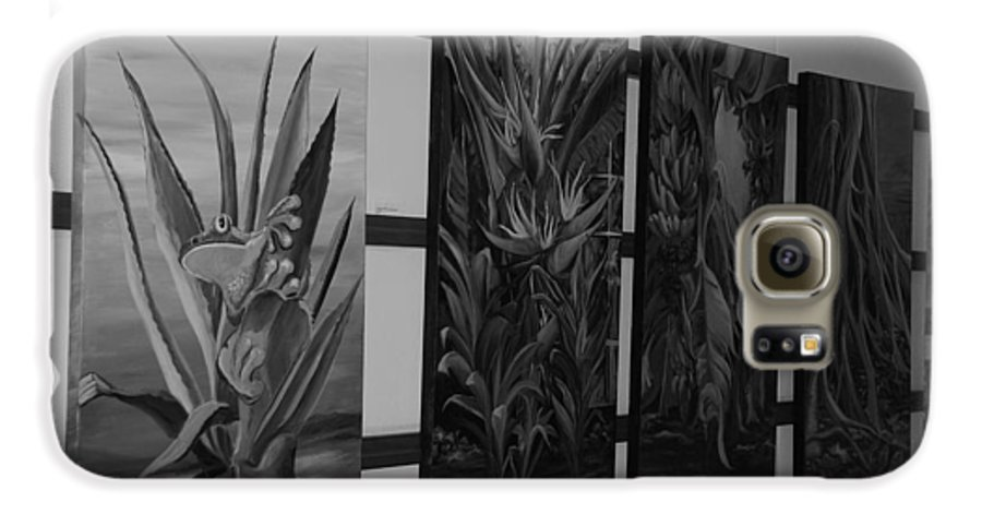 Black And White Galaxy S6 Case featuring the photograph Hanging Art by Rob Hans