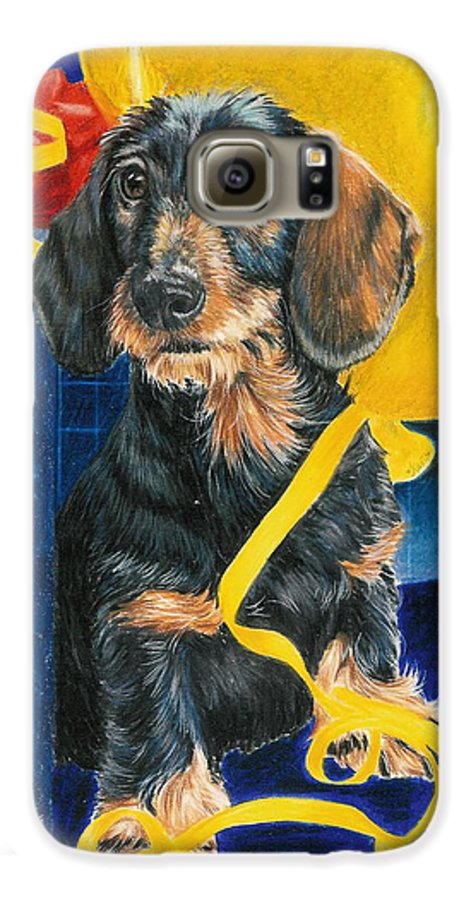 Dogs Galaxy S6 Case featuring the drawing Happy Birthday by Barbara Keith