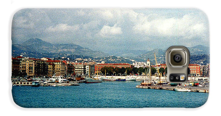 Landscape Galaxy S6 Case featuring the photograph Harbor Scene In Nice France by Nancy Mueller