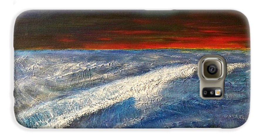 Beaches Galaxy S6 Case featuring the painting Hawiian View by Michael Cuozzo