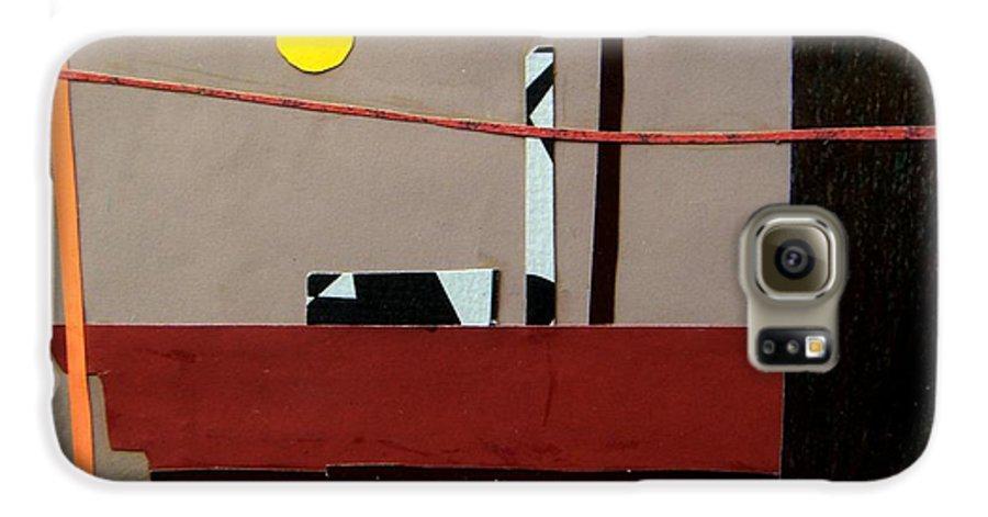 City Galaxy S6 Case featuring the mixed media Hazy Rooftops 2 by Debra Bretton Robinson