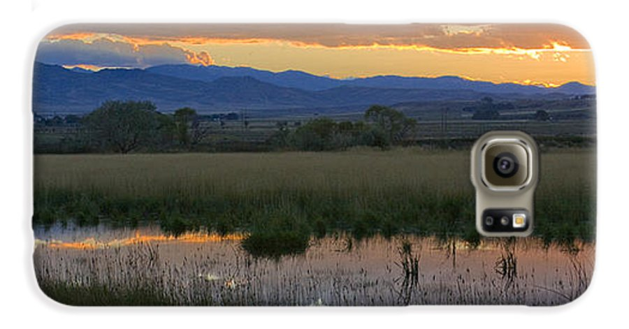Canal Galaxy S6 Case featuring the photograph Heart Mountain Sunset by Idaho Scenic Images Linda Lantzy