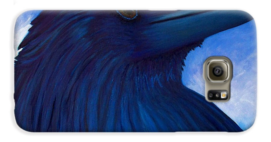 Raven Galaxy S6 Case featuring the painting Heaven Bound by Brian Commerford