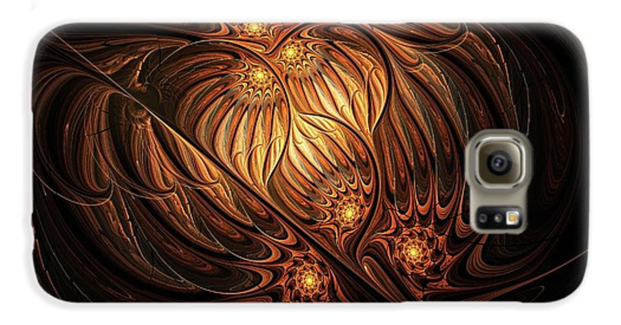 Digital Art Galaxy S6 Case featuring the digital art Heavenly Onion by Amanda Moore