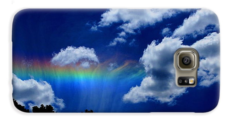 Heavens Rainbow Galaxy S6 Case featuring the photograph Heavens Rainbow by Linda Sannuti